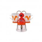 "Set Espressor Moka model ""Mini"" ORANGE"