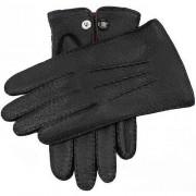 Dents Bucklor Clifton ofodrad Peccary läder handskar - svart Extra ...