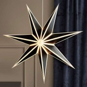 Adele decorative star for hanging black and white