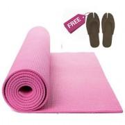 Yoga Mat 183 cm x 61 cm x 0.5 cm (Pink) Non-Slip Surface