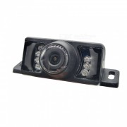camara inalambrica del Rearview del coche de 2.4ghz CMOS sin hilos con 7-LED / vision nocturna - negro (DC 12 ~ 24V)