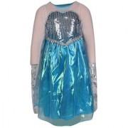 Raj Costume Polyester Elsa Frozen Fancy Dress For Kids