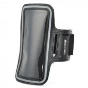 Sunshine PVC + Nylon Velcro Armband Bolsa Funda para IPHONE 6PLUS - Negro