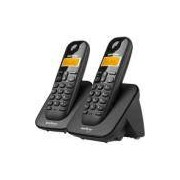 Telefone s/ fio Dect 6.0 c/ identificador de chamadas + ramal preto TS3112 Intelbras