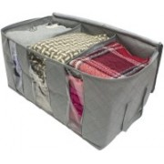 Jackshowshope Cloth Bag Bamboo Charcoal Practical Foldable Clothing Storage Bag Box Clothes Bag(Multicolor)