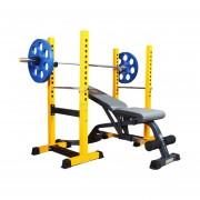 Jaula Press Rack 350 Kg + Banco