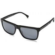 Emporio Armani EA 4117 anteojos de sol para hombre, color negro y gris