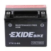 EXIDE YTX12-BS 12V 10Ah motorkerékpár akkumulátor bal+