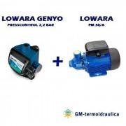 Kit Autoclave Elettropompa Periferica Lowara Pm 30 0,7 Hp 0,5 Kw + Press Control Lowara Genyo 8a/f22 2,2 Bar