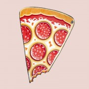 BigMouth Pizza fleece deken