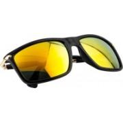 NuVew Rectangular Sunglasses(Golden)
