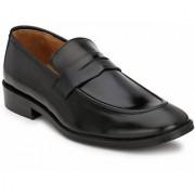 Hirel's Black Slip On Mocassions Original Leather Formal Shoes