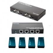 Splitter VGA 1 a 4 sobre UTP c/audio X-Case VGASPL1X4EX