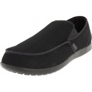 Crocs Men's Santa Cruz Rx Black Mesh Loafers and Mocassins - M10