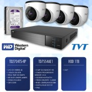 TVT komplet video nadzor 4 kamere, dvr, HD 1Tb