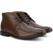 Clarks Gosworth Hi Walnut Leather Boots For Men(Brown)