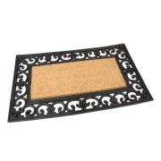 Kokosová čistící venkovní vstupní rohož Rectangle - Deco, FLOMA - délka 45 cm, šířka 75 cm a výška 1,7 cm