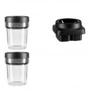 KitchenAid Behållare och Minichopper 3-delar 200 ml Svart/Klar