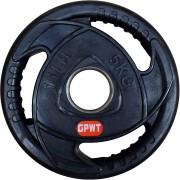 Диск за щанга гумиран Ø50 мм. 5 кг. с метален пръстен