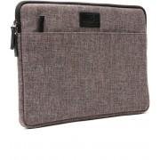 """Tech Supplies - MTSA13BL Sleeve voor 13 Inch Laptop, geschikt voor de Apple Macbook Air / Pro of andere laptops van 13.3"""" Fluweel zacht van binnen Bescherming Cover Hoes Case Zwart Bruin"""