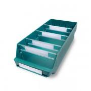 Certeo Regalkasten aus hochschlagfestem Polypropylen - grün - LxBxH 500 x 240 x 150 mm, VE 10 Stk