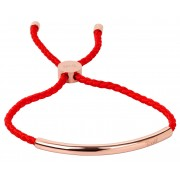 Troli Red brățară dantelă cu decor roz din oțel placat cu aur