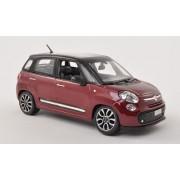 Fiat 500 L, Met. Daark Red/Matt Black , Model Car, Ready Made, Bburago 1:24