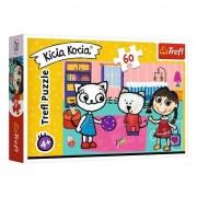 Puzzle Trefl 60 piese Kitty Cat cu prietenii (TREF766)
