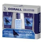Dorall Thunder Blue - zestaw, woda toaletowa, balsam po goleniu, żel pod prysznic