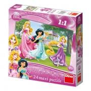 Puzzle de podea Printese, 24 piese, 2-5 ani