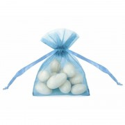 Rayher hobby materialen 20 kleine blauwe zakjes van organza