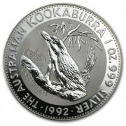 Kookaburra Stříbrná mince 1 AUD Australian Ledňáček 1 Oz 1992