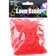 Touch of Nature Loom Bands Value Pack for Jewelry, Includes Band and Clasps, Red