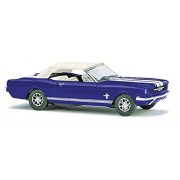 Busch 1964 Ford Mustang Convertible Blue/White HO Scale