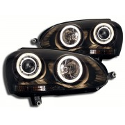 Faruri Angel Eyes VW Golf 5 1K 03- negru