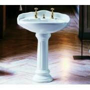 Old Time lavabo 70 cm completo di colonna bianco