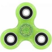 Jucarie Antistres HIT Fidget Spinner cu Sclipici Green