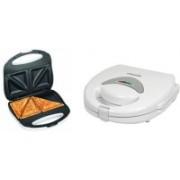 Euroline EL001 Sandwich Maker Grill, Toast(White)