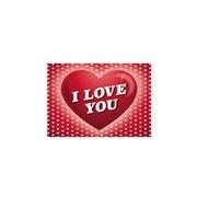 Bellatio Decorations Romantische Valentijnskaart I Love You ansichtkaart met hartjes