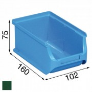 Allit Kunststoffboxen plus 2, 102 x 160 x 75 mm, grün, 24 stk.