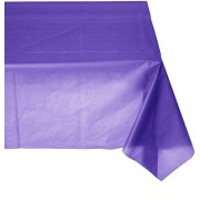 amscan Amsan Mantel Rectangular de plástico para Mesa, 12 Unidades, Color Morado