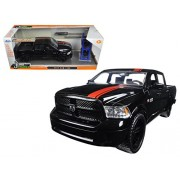 Jada 98022 1 By 24 Scale Diecast 2014 Dodge Ram 1500 Pickup Truck Black With Red Stripe Just Trucks With Extra Wheels Model Car