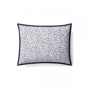 Lauren Home Alix Mini-Floral Throw Pillow - Navy/White - Size: 38 X 50 cm