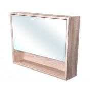 Amsterdam galerka 1x výklopné barva zrcadlo v AL rámu korpus korpus Dub bardolino šíře 90 (CA.G1V.194.090) CEDERIKA