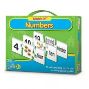 TEENA'S 20 Self-Correcting Numbers Puzzle with Matching Images Educational Toy