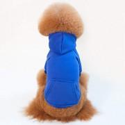INVJGNKJ Perro ropa terciopelo color sólido con un algodón de primavera y otoño e invierno xxl -A XS
