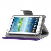 Crazy Horse Universal Textura Giro Horizontal Funda De Ecocuero Con Soporte Para Tablet PC 7 Pulgadas (morado)