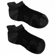 Aclima Ankle Socks 2-Pack Calze merino (36-39, nero)