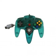 TTX Tech NXN64-436 Controller OG Classic for Nintendo N64, Clear Teal Classics Edition