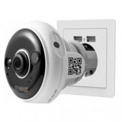 Technaxx Telecamera Dome FullHD da Presa a Muro per Interni IR LED PIR, TX-57
